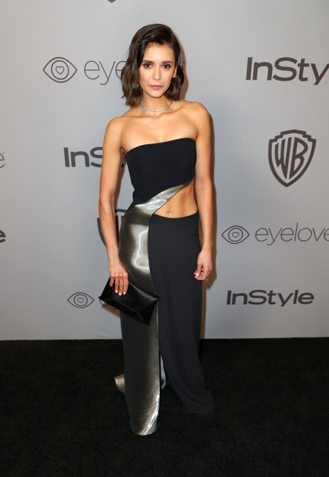 Nina Dobrev at InStyle party