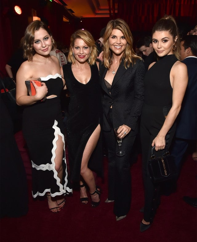 Candace Cameron Bure and Lori Loughlin bring daughters to Golden Globe Netflix party