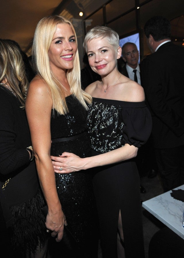 Michelle Williams and Busy Philipps at the 2018 Golden Globes.