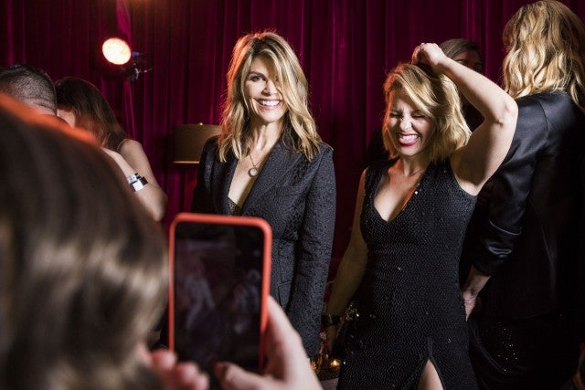 Lori Loughlin and Candace Cameron Bure at Netflix party