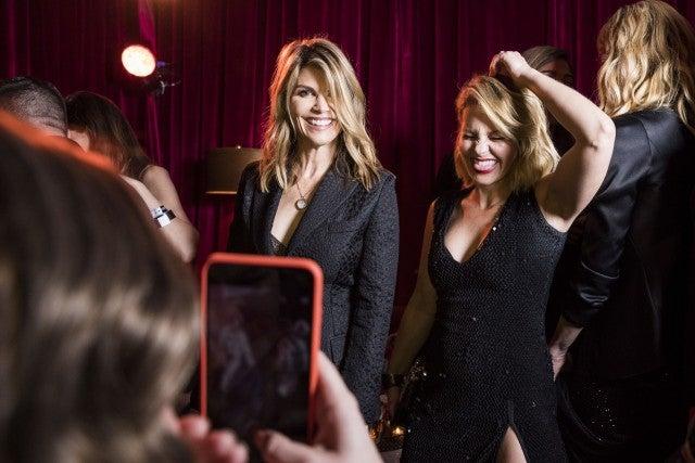 Lori Loughlin and Candace Cameron Bure at Netflix party