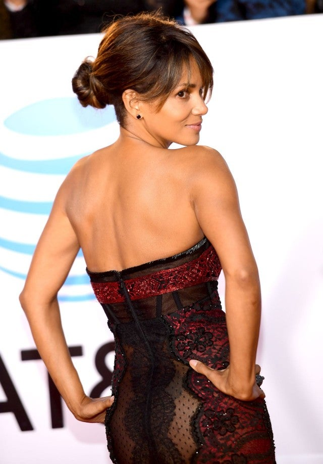 Halle Berry Leaves Little To The Imagination In Sheer Lace