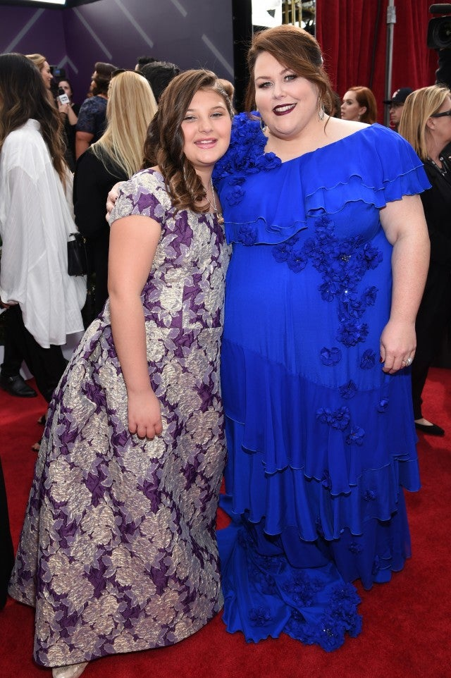Chrissy Metz and Mackenzie Hancsicsak at the SAG Awards.