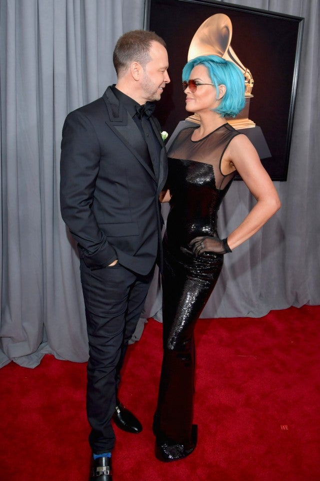 Donnie Wahlberg and Jenny McCarthy at 2018 GRAMMYs
