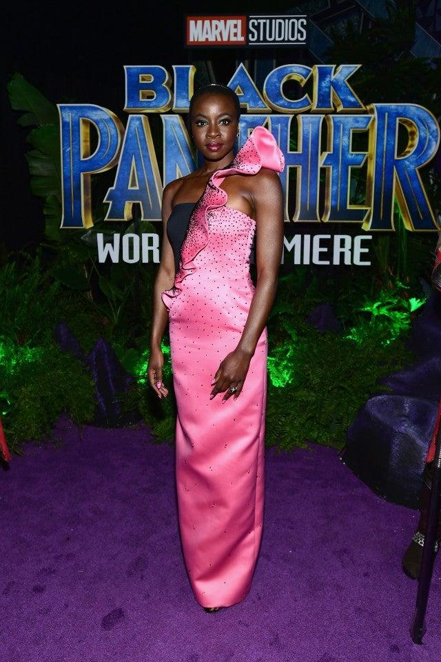 Danai Gurira at Black Panther premiere