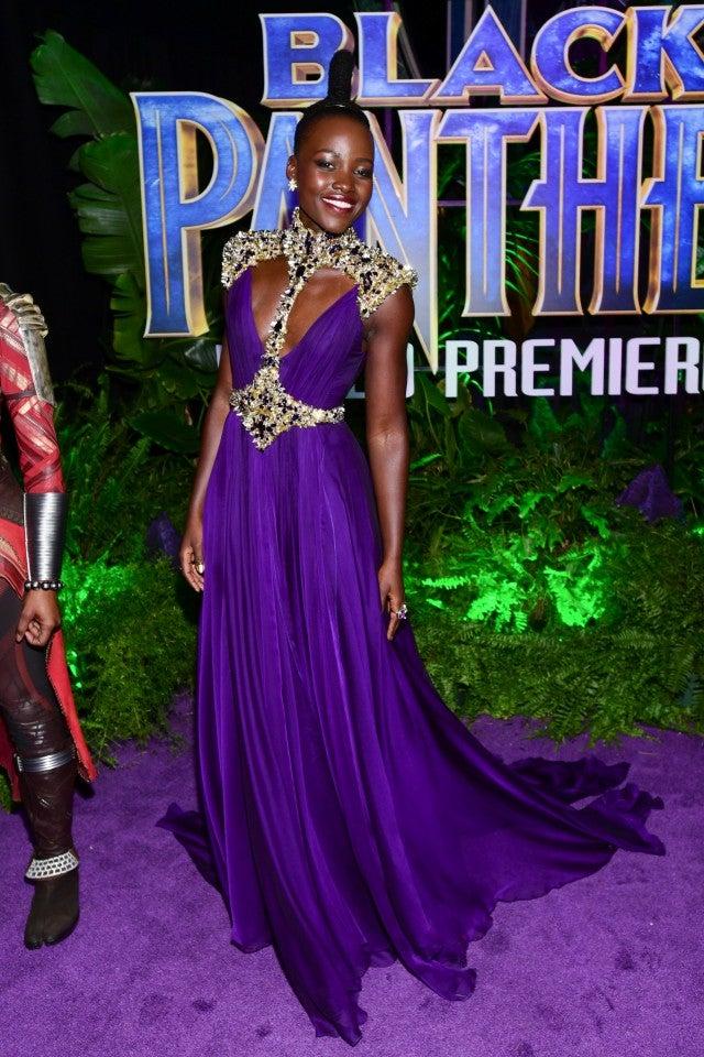 Lupita Nyong'o at Black Panther premiere