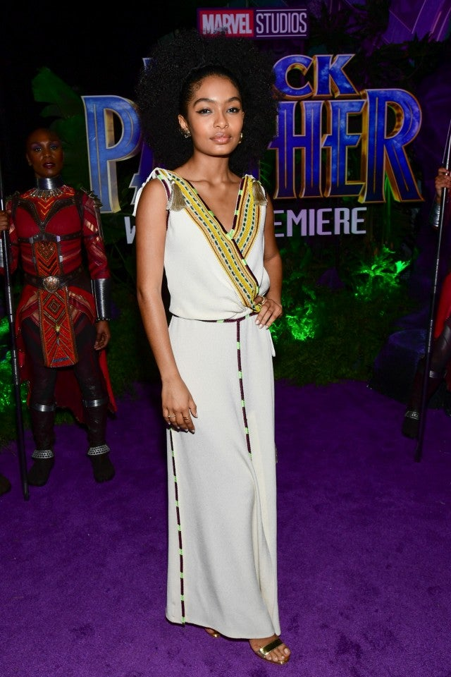 Yara Shahidi at Black Panther premiere