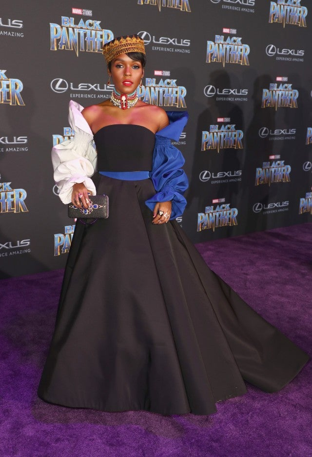 Janelle Monae at Black Panther premiere