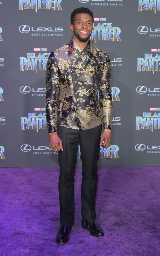 Chadwick Boseman at Black Panther premiere