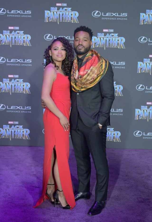 Ryan Coogler and wife at Black Panther premiere