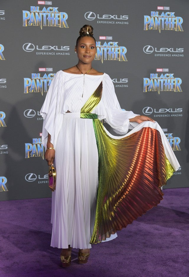 Issa Rae at Black Panther premiere