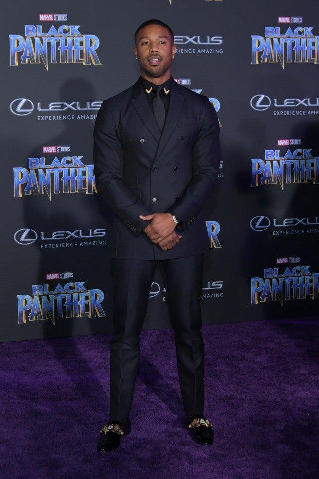 Michael B Jordan at Black Panther premiere