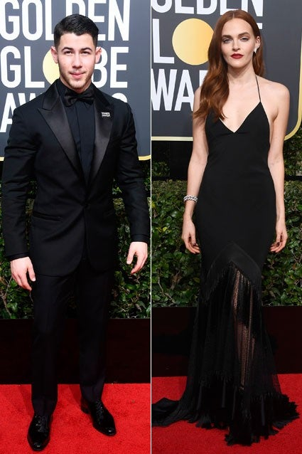 Nick Jonas and Madeline Brewer Golden Globes
