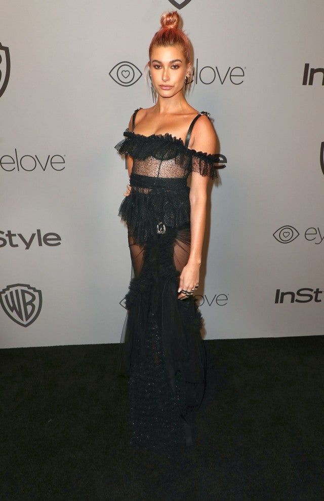 Hailey Baldwin at InStyle party