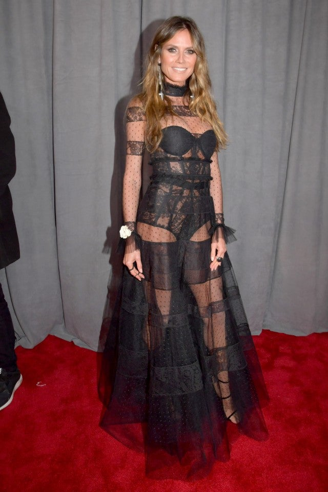 Heidi Klum at the 2018 GRAMMYs
