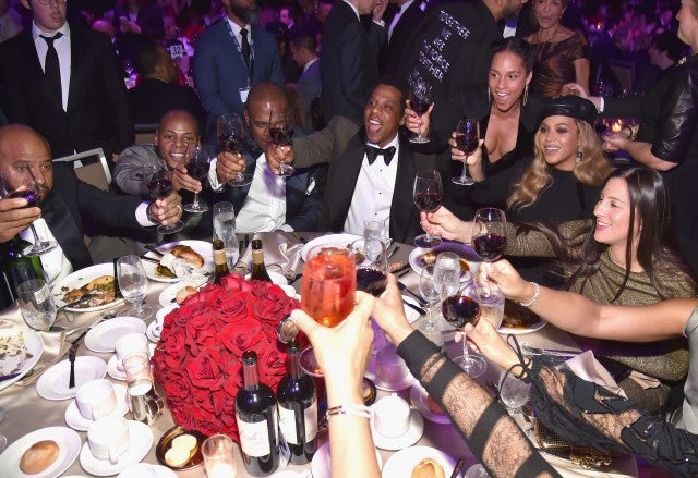 Jay Z and Beyonce CLive Davis Party