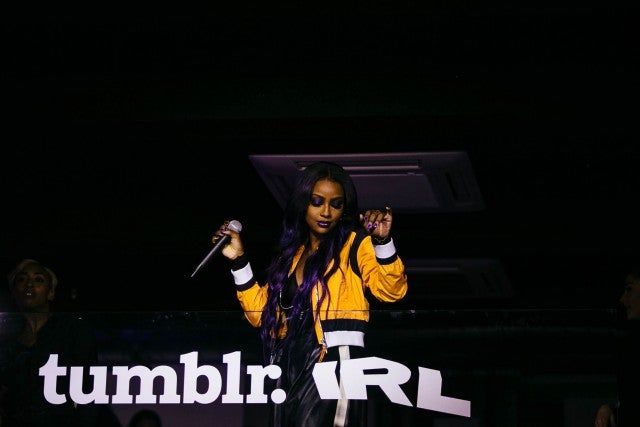Justine Skye at tumblr IRL party