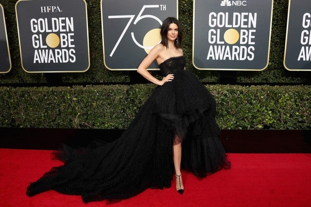 Kendall Jenner at the Golden Globes
