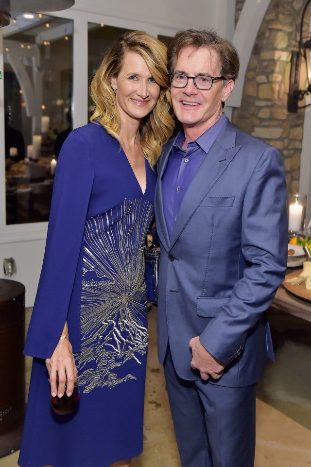 Laura Dern and Kyle MacLahlan at Golden Globe pre-party
