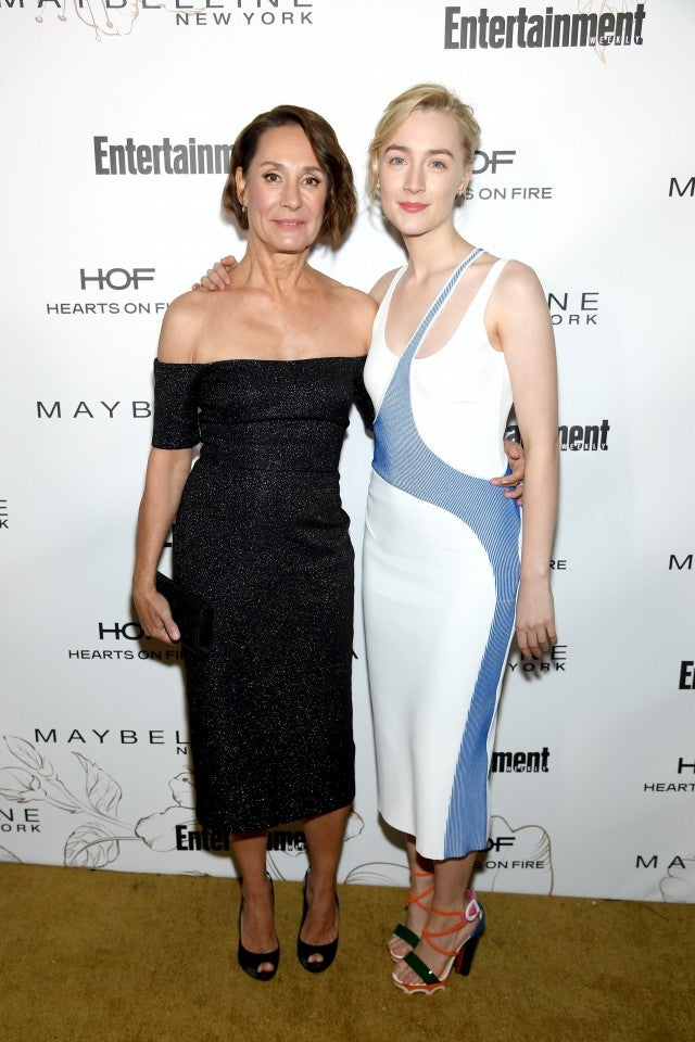 Laurie Metcalf and Saoirse Ronan at Entertainment Weekly's official celebration honoring Screen Actors Guild Awards nominees