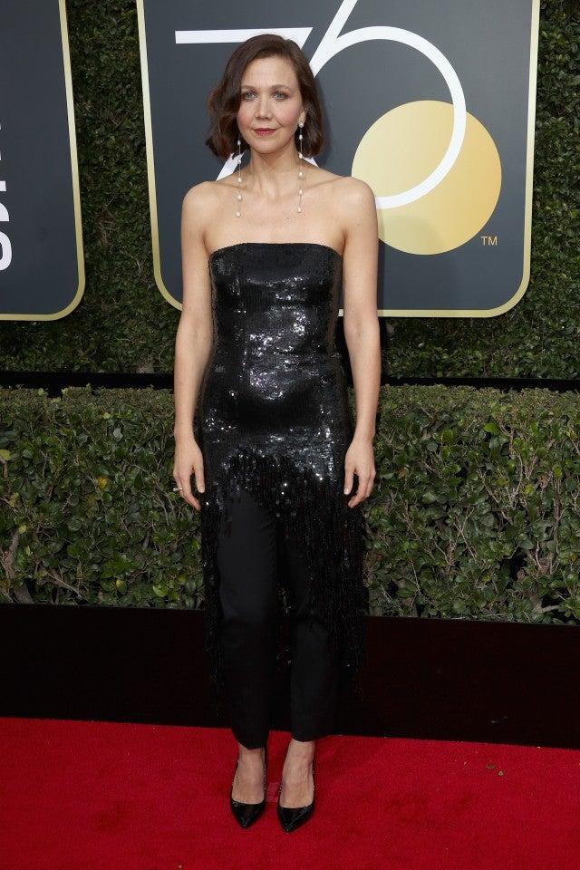 Maggie Gyllenhaal at 2018 Golden Globes
