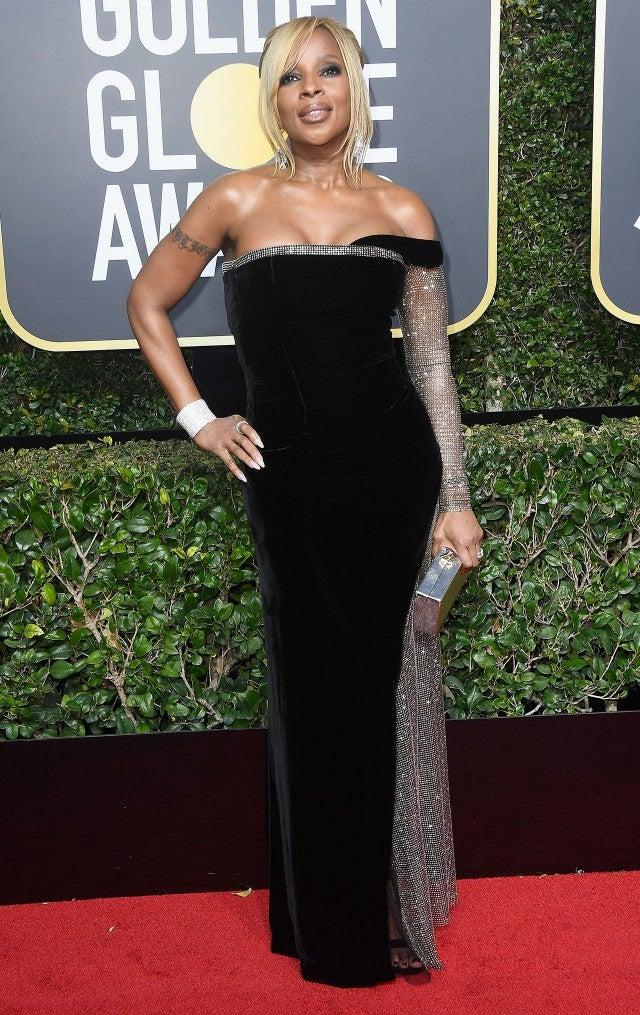 Mary J Blige at 2018 Golden Globes