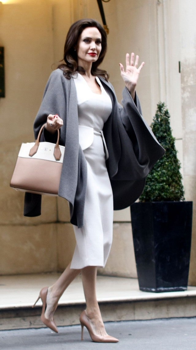 Angelina Jolie Is a Fashion Queen in Paris -- See Her Ultra-Chic Look! | Entertainment Tonight