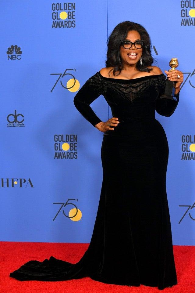 OPrah Winfrey Golden Globes 2018