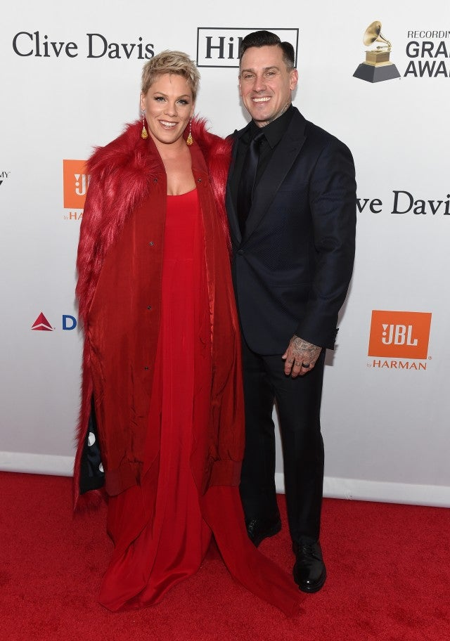 Pink and Carey Hart at Clive Davis