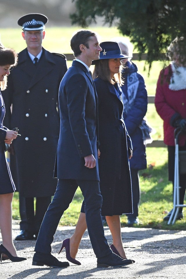 pregnant kate middleton attends church with prince william