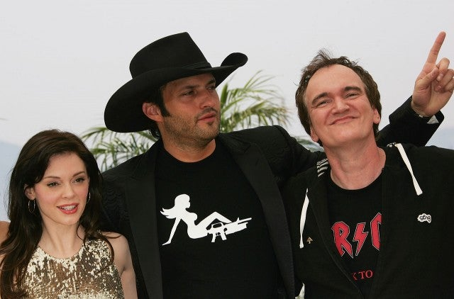 Rose McGowan, Robert Rodriguez, and Quentin Tarantino