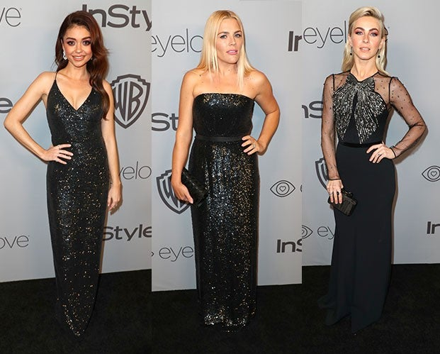 Sarah Hyland, Busy Philipps and Julianne Hough