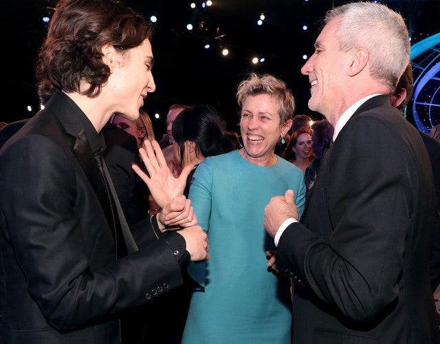 Timothee Chalamet and Frances McDormand