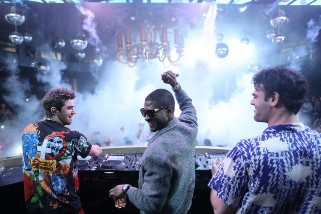 Usher and The Chainsmokers on NYE