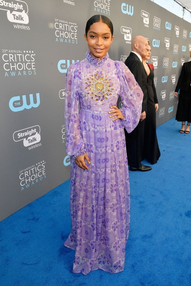 Yara Shahidi at 2018 critics choice
