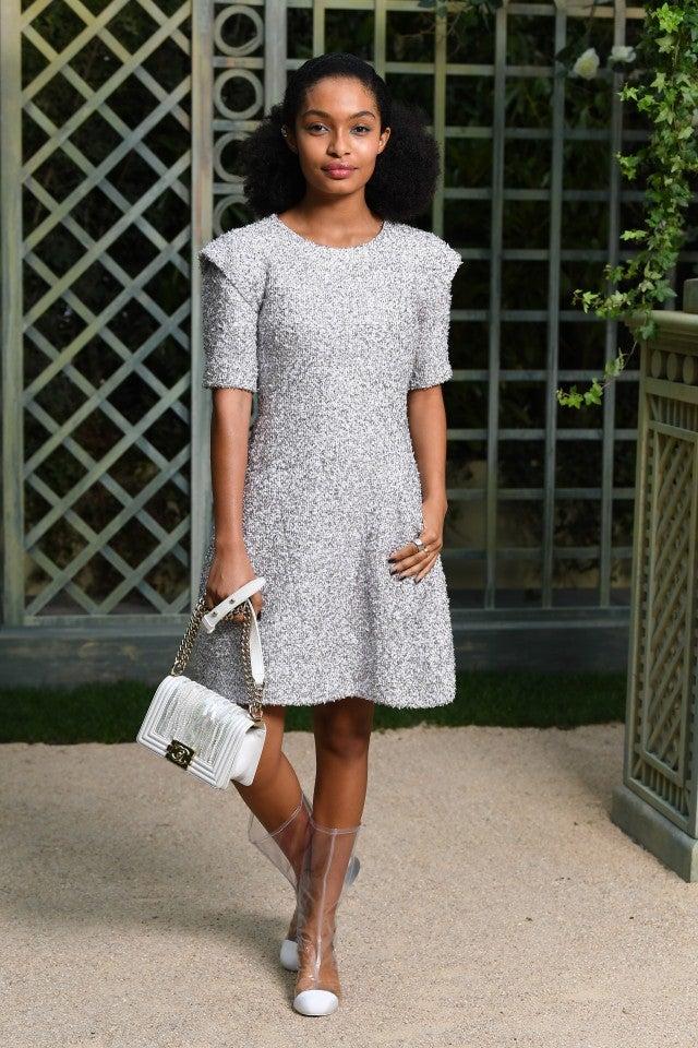 Yara Shahidi at Chanel