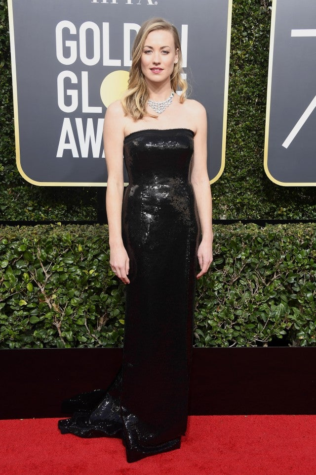 Yvonne Strahovski at 2018 Golden Globes
