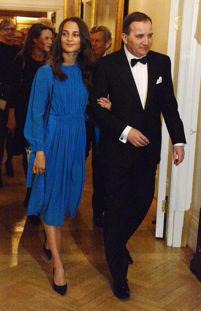 Alicia Vikander Royal Dinner in Sweden