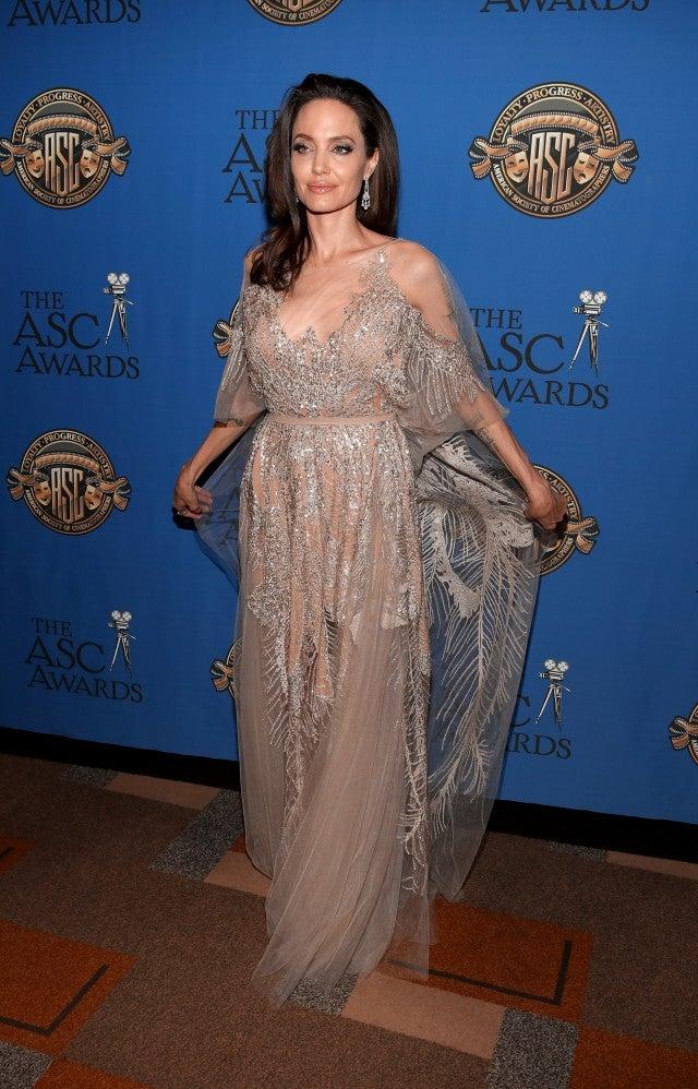 Angelina Jolie Stuns in Glittery Gown at American Society ... анджелина джоли