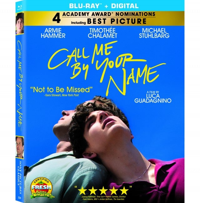 Call Me By Your Name DVD Artwork