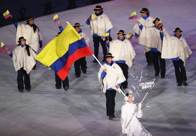 Colombia Winter Olympics 2018