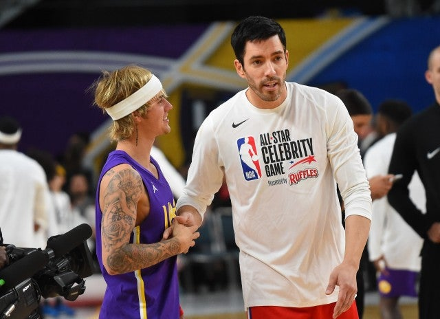 Drew Scott and Justin Bieber NBA All Star Game