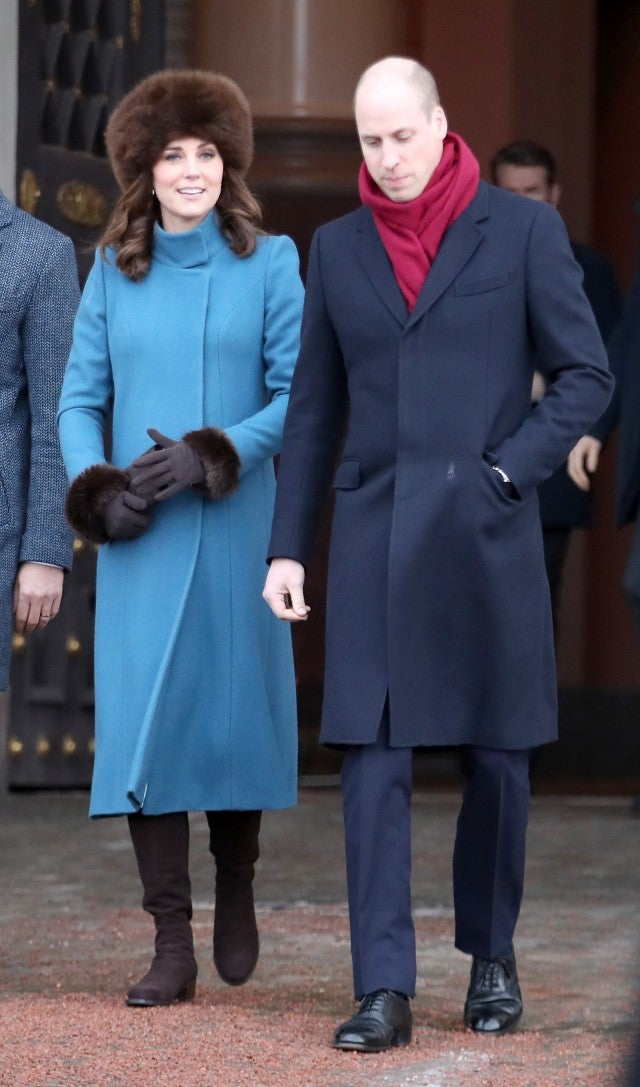 Kate Middleton Braves Snowy Norway In Fur Hat While Prince