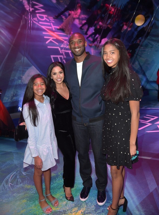 Kobe Bryant and family at A Wrinkle In Time premiere