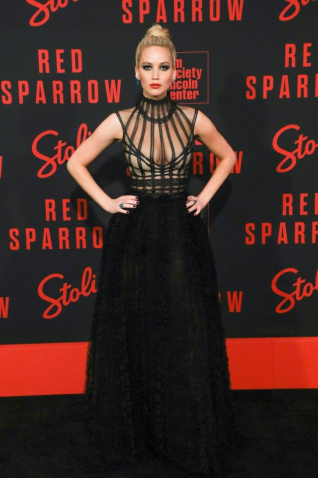 Jennifer Lawrence at Red Sparrow premiere