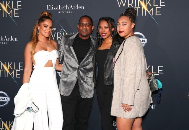 Martin Lawrence and fiancee and daughters at A Wrinkle in Time premiere