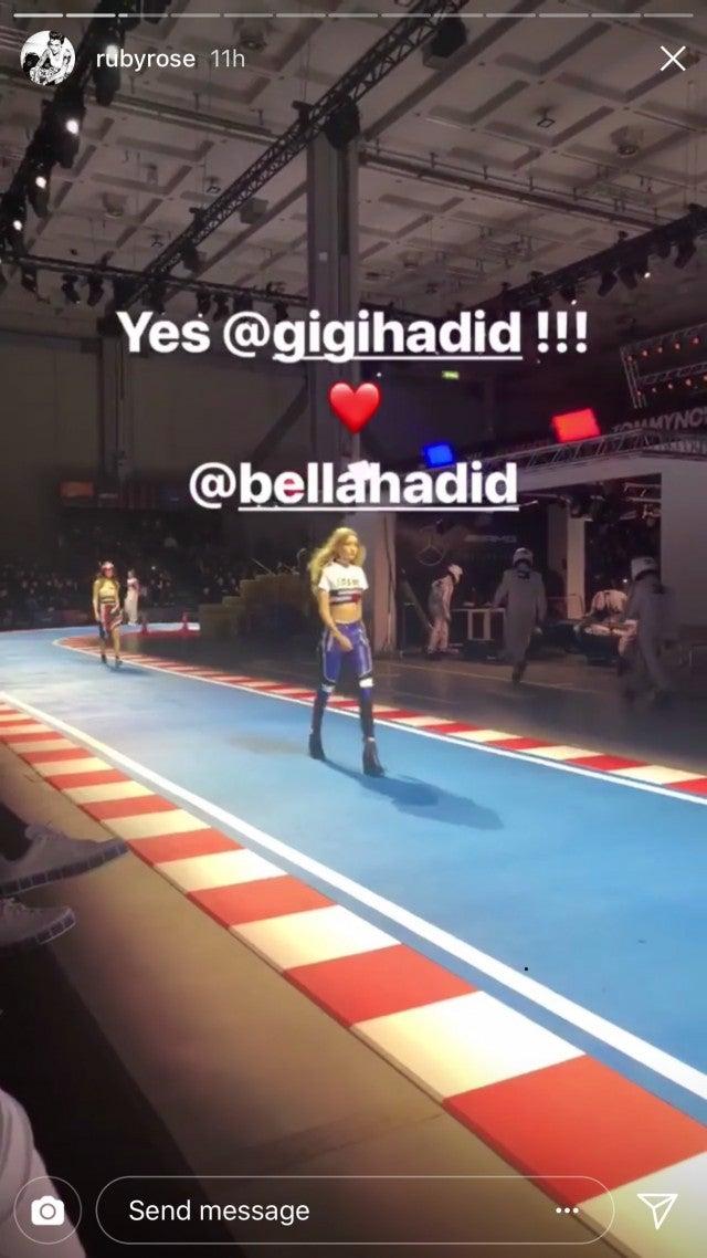Ruby Rose's video of Gigi and Bella at Milan Fashion Week