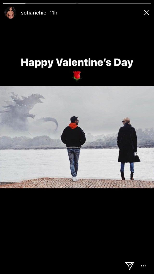 Sofia Richie posts a Valentine's Day photo Instagram story.