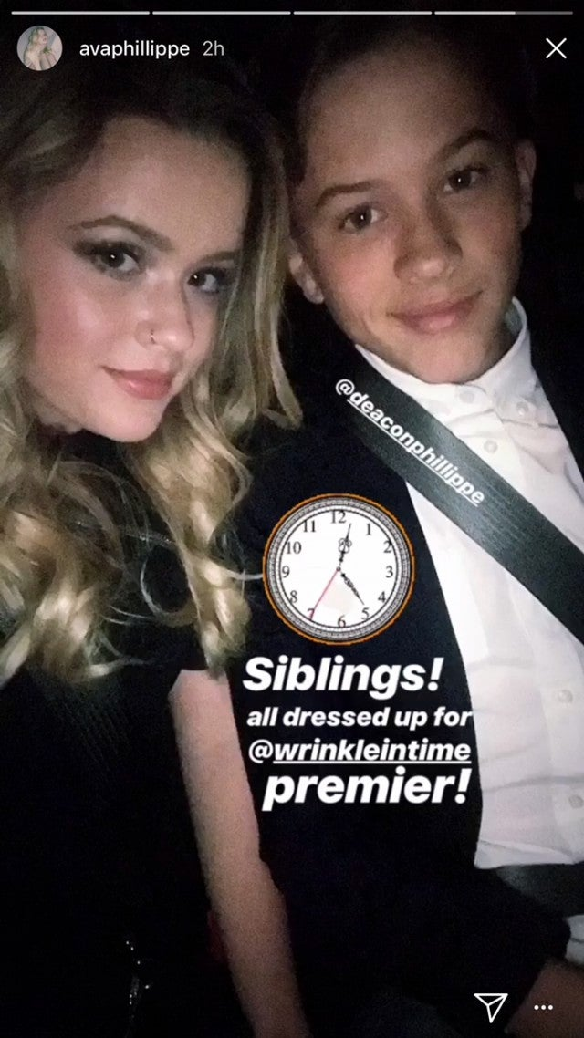Ava Phillippe and Deacon Phillippe at A Wrinkle In Time premiere