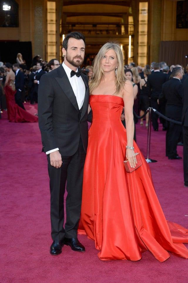 Jennifer Aniston and Justin Theroux 2013 Oscars